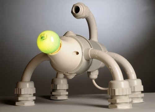 Торшер из пластиковых труб